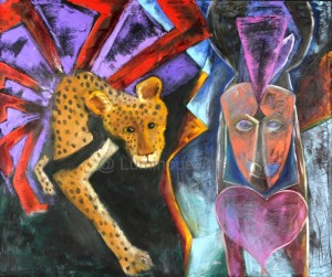 Leopard and Woman