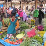 Native market in Chincero